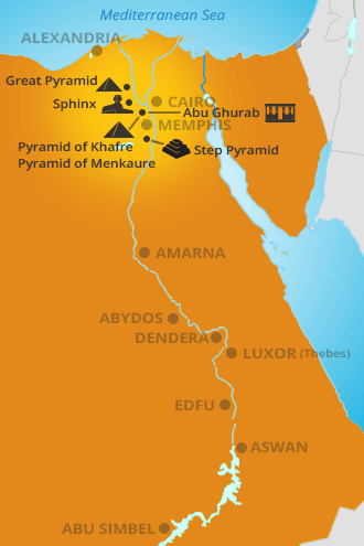 Pyramids In Egypt Map.Interactive Map And Timeline For Egyptian History Rosicrucian