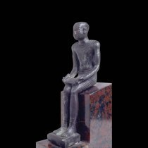 Image: RC 1507 Imhotep Votive Figure at the Rosicrucian Egyptian Museum
