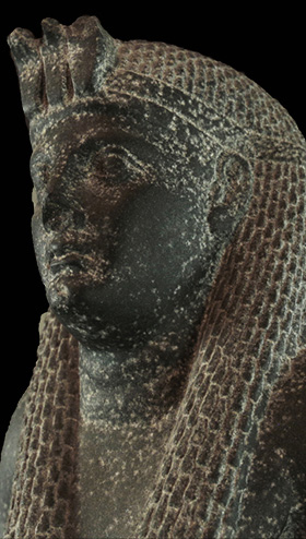 RC 1582 Statue of Cleopatra VII at the Rosicrucian Egyptian Museum.